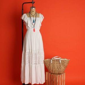 Dresses & Skirts - PEASANT MAXI DRESS | WHITE MAXI DRESS | BOHEMIAN